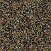 Moda - Morris Holiday Metallic - 5886 - V&A Clover Floral on Black - 7316 13M - Cotton Fabric